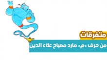 """كيف نرسم يا أطفال مارد مصباح علاء الدين من خلال حرف """"م"""""""