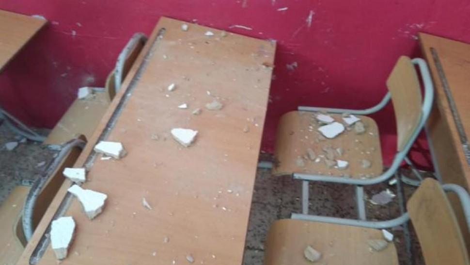 سقوط،سقف،قسم،مدرسة ،قليبية
