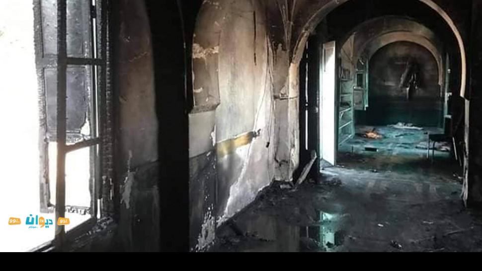 حريق بمسجد