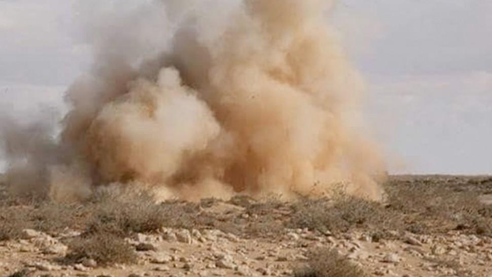 انفجار لغم ارضي