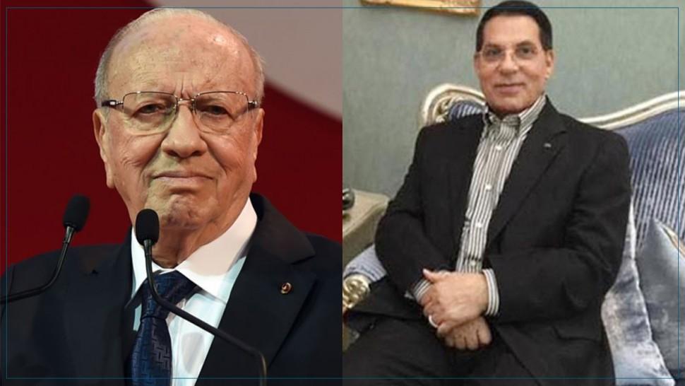زين العابدين بن علي ينعى الباجي قائد السبسي