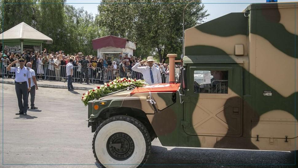 وصول جثمان رئيس الجمهورية الى قصر قرطاج