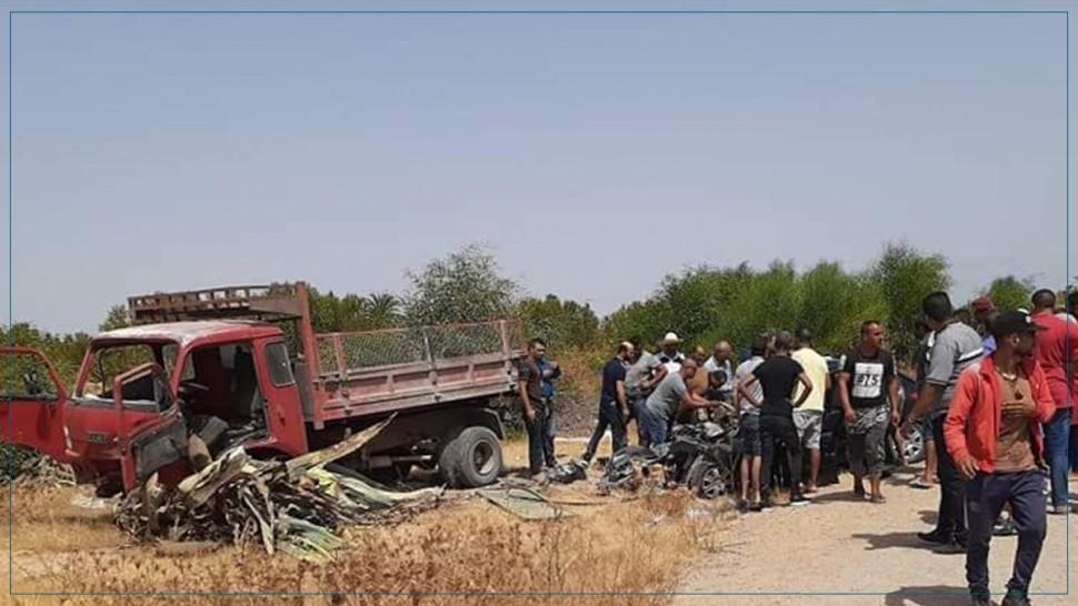 المنستير: وفاة شخصين وإصابة 3 آخرين في حادث مرور (صور)