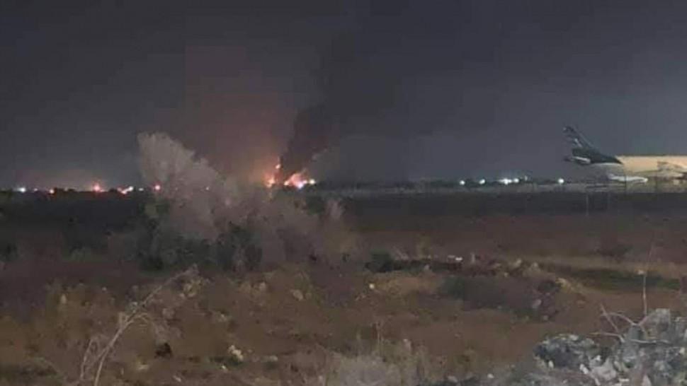 قصف مطار مصراطة