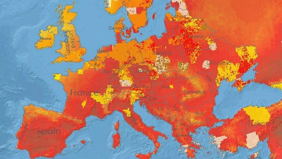 درجات الحرارة في العالم