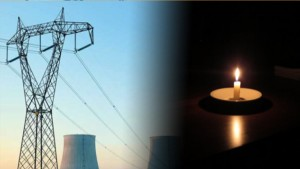 التيار الكهربائي وشمعة
