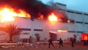 صفاقس : اندلاع النيران بمصنع و اصابة عمال بحروق
