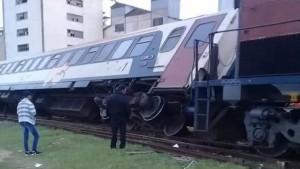 خروج قطار عن السكة