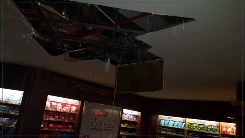سوسة : سقوط جزء من  سقف داخل مطار النفيضة الحمامات الدولي