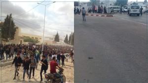 عقارب : حالة احتقان و غلق الطريق الوطنية