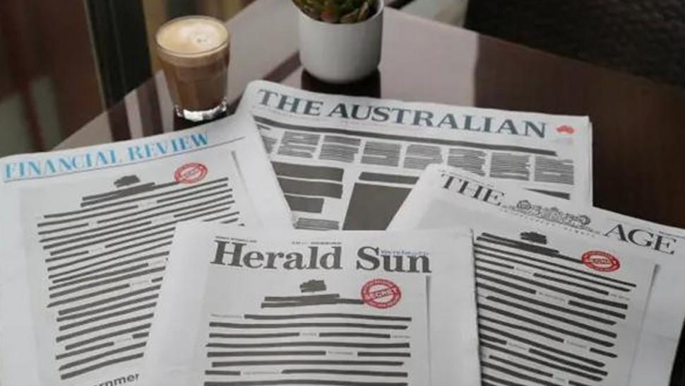 الصحف الاسترالية تصدر صفحاتها الأولى باللون الأسود