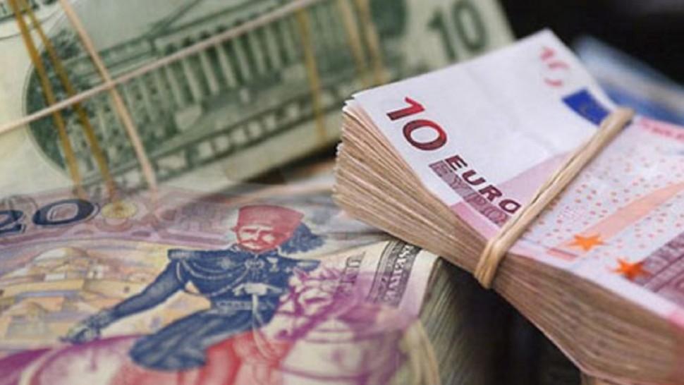 سعر صرف العملات الأجنبية بالدينار التونسي ليوم الاثنين