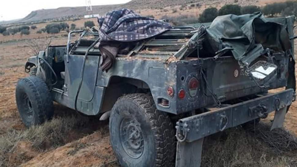 سيدي بوزيد:انقلاب سيارة عسكرية يسفر عن 4 اصابات