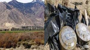 الغام و مواد لصنع المتفجرات بجبل عرباطة