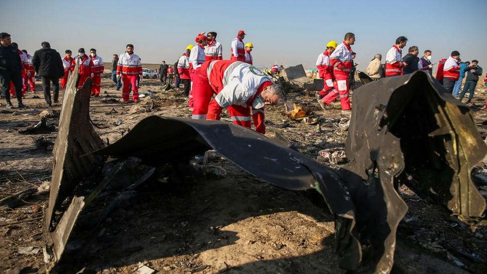 الطائرة الاوكرانية المنكوبة