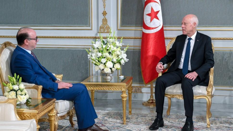 استقبل رئيس الجمهورية قيس سعيد مساء اليوم الخميس 26 مارس 2020 بقصر قرطاج رئيس الحكومة إلياس الفخفاخ.