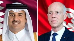 في اتصال جمعه برئيس الجمهورية: أمير قطر يعبّر عن حرصه على دعم تونس