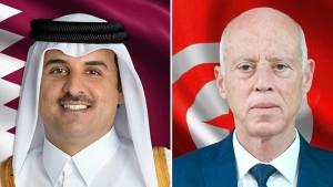 قيس سعيد لأمير قطر. ..' تونس تضع بدورها كلّ إمكانياتها على ذمّة الشعب القطري'