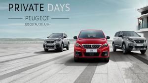 Avec les PrivateDays Peugeot, profitezdes offres spectaculaires sur des véhicules Peugeot jusqu'au 30 juin, dans la limite du stock disponible. Après la sortie du confinement et avec l'arrivée de l'été, Peugeot prépare le départ en vacances des Tunisiens qui privilégieront majoritairement le tourisme local et privilégieront ainsi le moyen de transport automobile. Afin de répondre à cette attente,Peugeot a décidé de passer en «mode soirée» jusqu'à la fin du mois de juin 2020.