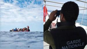 سواحل قرقنة : إنقاذ 20 شخصا من جنسيات عربية على متن مركب 'حرقة'