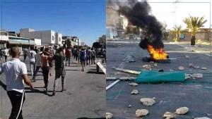 تطاوين :  عمليات كر وفر بين قوات الأمن والمحتجين