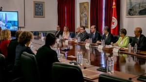 الفخفاخ يلتقي مع ممثلي أهم شركاء تونس الدوليين