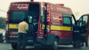 المحرس : إصابة 18 شخصا في إصطدام بين سيارتين