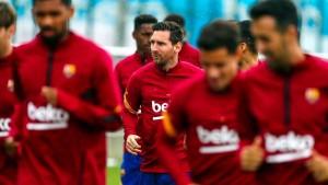 ميسي ينضم الى تدريبات برشلونة