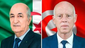 قيس سعيد مع الرئيس الجزائري