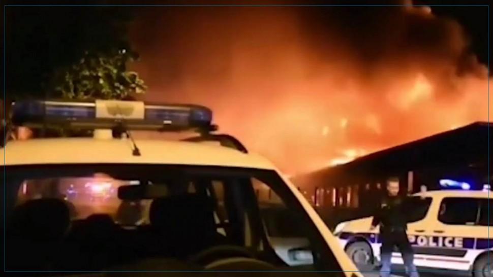 اندلاع حريق بميناء لوهافر بفرنسا