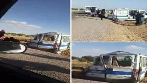 بين مدنين وجرجيس: انقلاب سيارة اسعاف تقل أشخاصا حاملين لكورونا