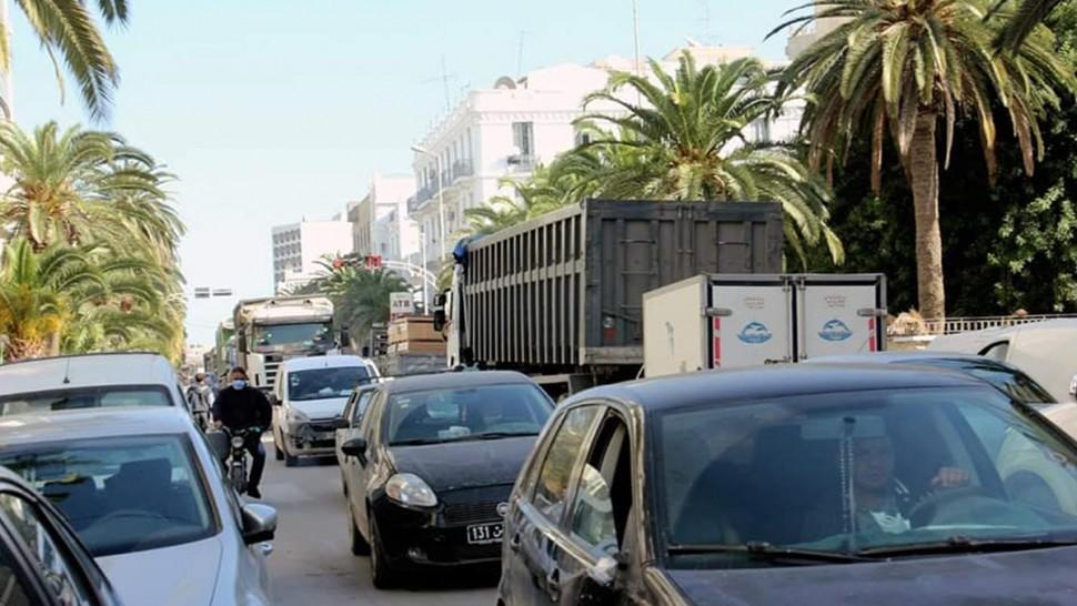 صفاقس: اختناق مروري وسط مدينة صفاقس (صور)