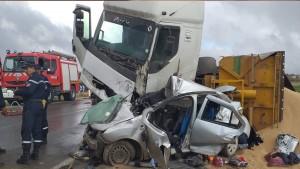 سوسة: قتيلان على عين المكان في اصطدام بين سيارة و شاحنة ثقيلة