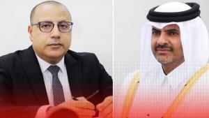 هشام المشيشي ورئيس مجلس الوزراء القطري