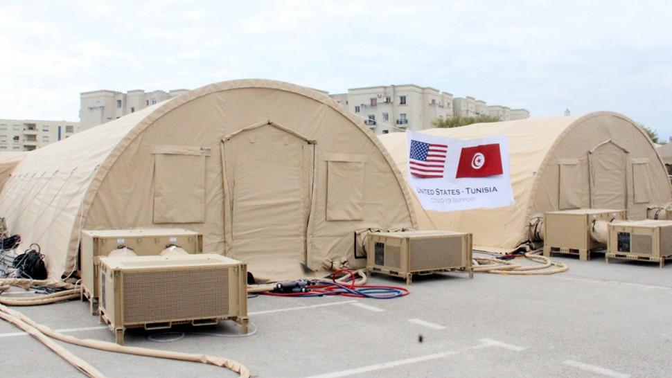 الولايات المتّحدة الأمريكيّة تمنح تونس منشأتين متحرّكتين للعزل