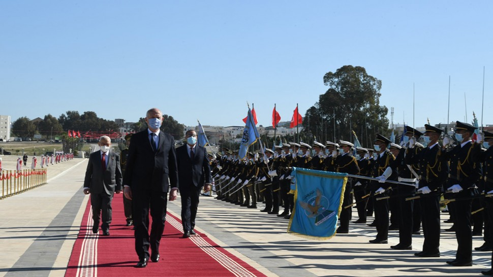 بحضور المشيشي و الغنوشي : رئيس الجمهورية يشرف على موكب إحياء الذكرى 83  لعيد الشهداء