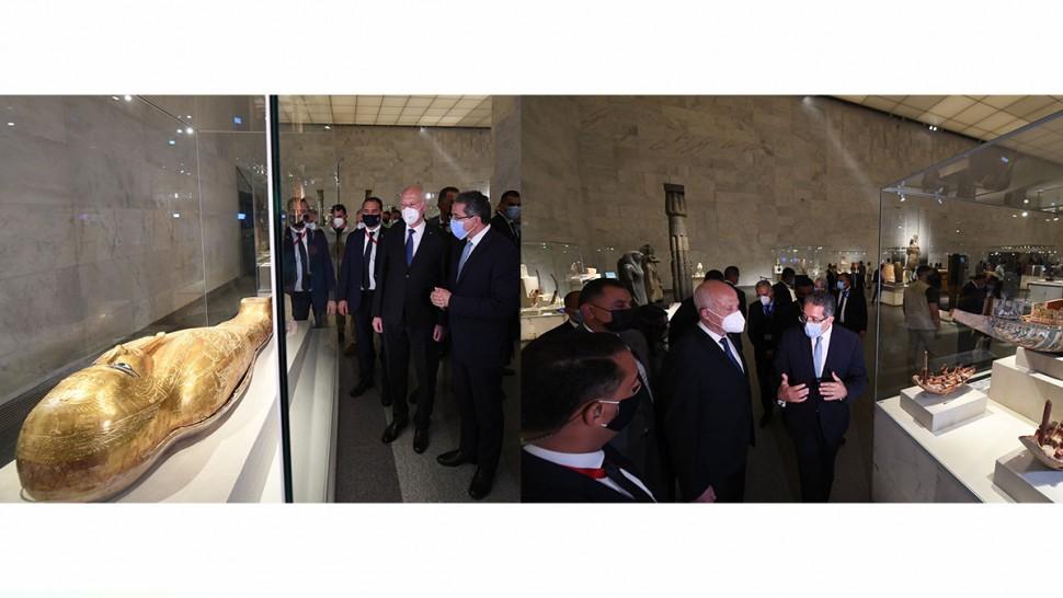 استقبلت مصر اليوم الجمعة 9 افريل 2021 رئيس الجمهورية قيس سعيد مساء.