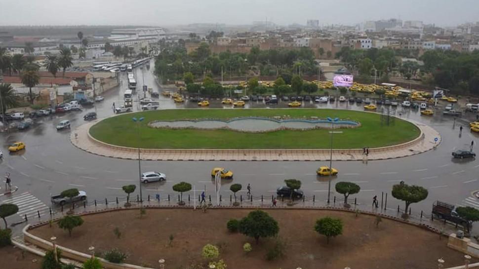 حالة الطقس بصفاقس : أمطار متوسطة مع خلايا رعدية محلية
