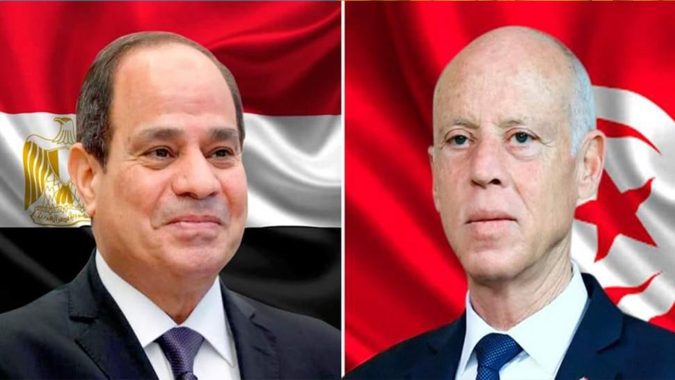 قيس سعيد يقدم التعازي للرئيس المصري