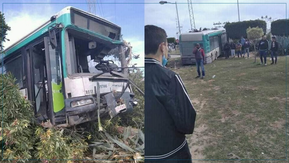 صفاقس : إصابات في اصطدام حافلة بشجرة