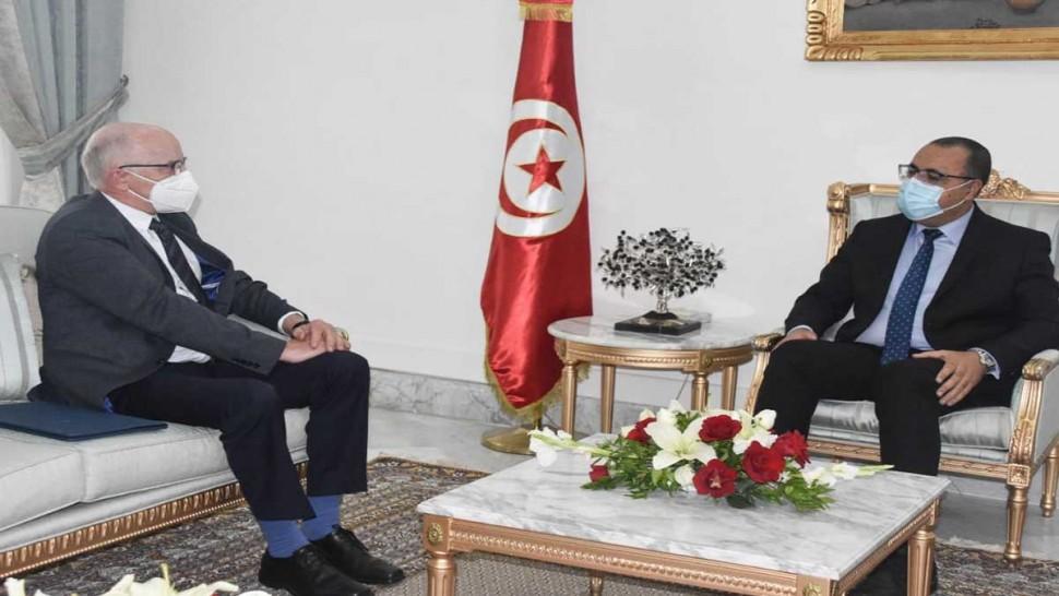 هشام المشيشي وسفير الاتحاد الاروروبي