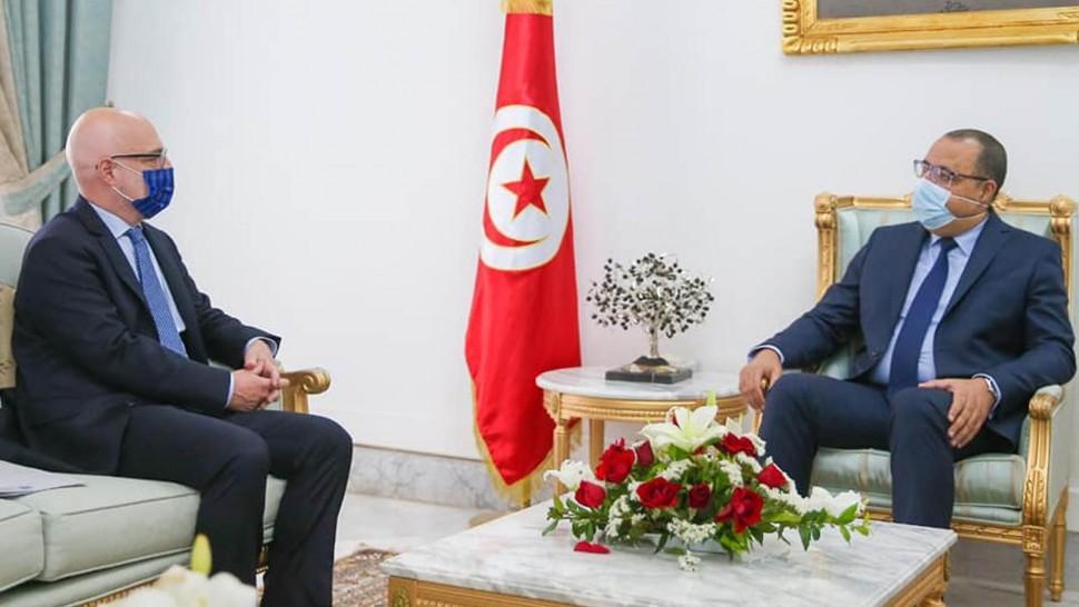 هشام المشيشي وسفير ايطاليا