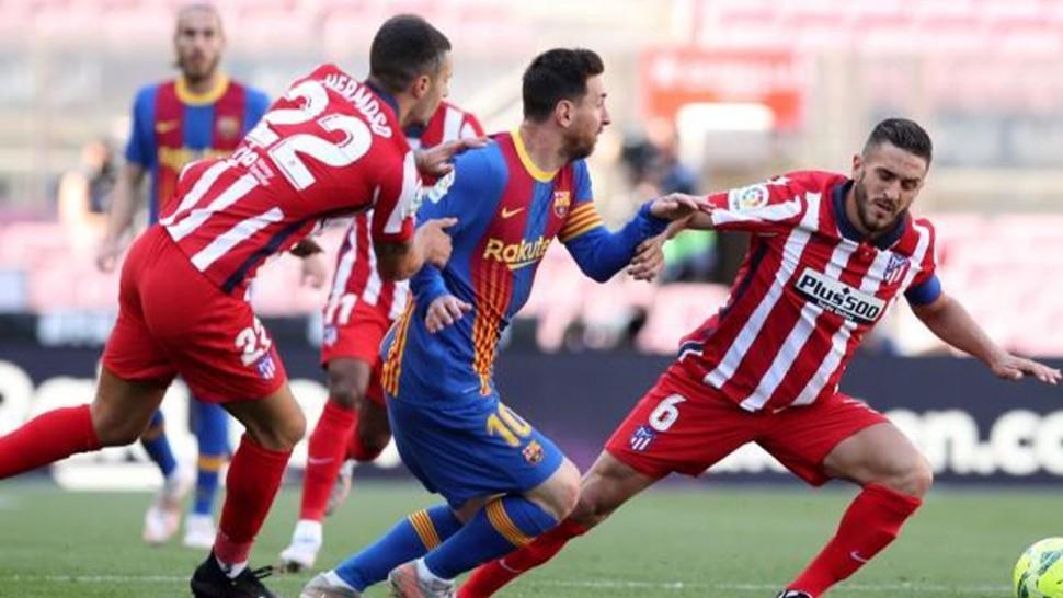 التعادل السلبي بين برشلونة وأتليتيكو مدريد