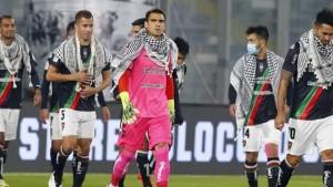 نادي بالاستينو التشيلي يدعم فلسطين ضد العدوان الصهيوني