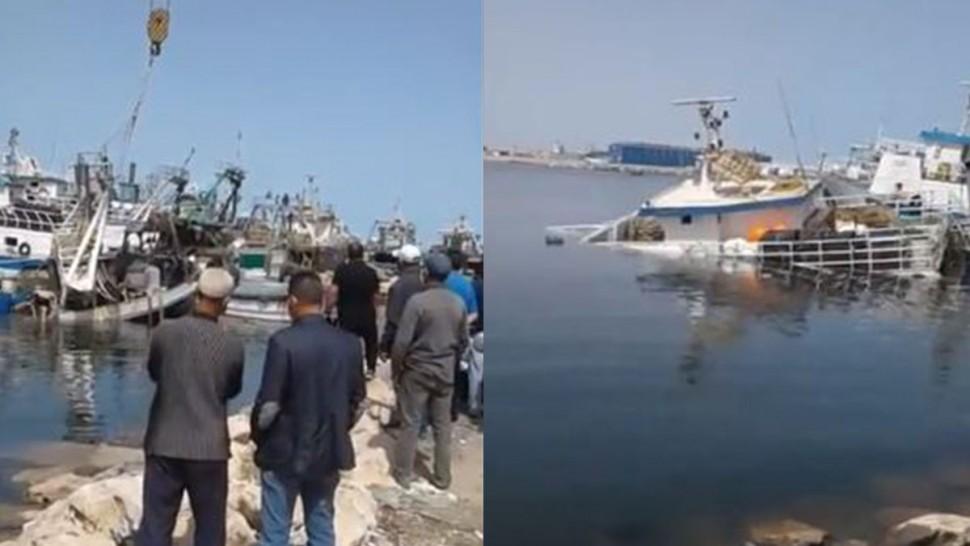 ميناء صفاقس ، غرق مركب