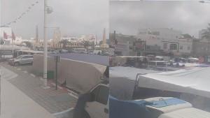 قصر هلال : انتصاب السوق الأسبوعية و فتح أغلب المحلات التجارية في ثالث أيام الحجر الشامل