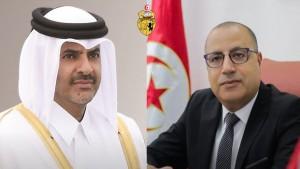 المشيشي ورئيس مجلس الوزراء القطري يتفقان على ضرورة انجاح اللجنة العليا المشتركة التونسية القطرية