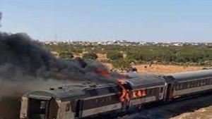 اندلاع حريق بالقطار الرابط بين الدهماني والعاصمة