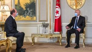 سعيد يدعو فرنسا لمواصلة معاضدة جهود تونس في التصدي لجائحة كورونا
