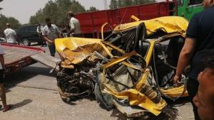 المهدية : وفاة 5 أشخاص على عين المكان في اصطدام بين شاحنة و سيارة تاكسي